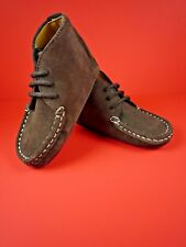 COLE HAAN DANNI CHUKKA CHOCOLATE SUEDE BABY HIGH-TOP SHOES ~ NIB ~ SIZE 4C