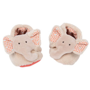 Moulin Roty Scarpine Elefante Bambino 0-6 mesi Chaussons baby slippers 658010