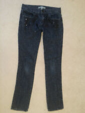 Boom Boom Junior Fashion Embellished Gray Stretch Denim Straight Leg Jeans Sz.7