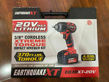NEW Earthquake XT 20V Max Lithium 3/8 in Cordless Impact Wrench  QIK SHIP