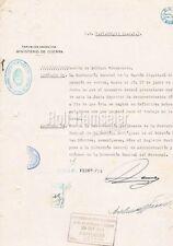Argentina Pres. Pedro Pablo Ramírez & Edelmiro Julián Farrell autograph document