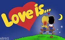 [SELLER REFURBISHED] 100pcs LOVE IS BUBBLE CHEWING GUM STRAWBERRY BANANA COMICS
