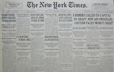 1-1936 January 8 FARMERS CALLED TO CAPITAL TO DRAFT NEW AID PROGRAM; COTTON FACE