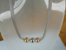 necklace rose yellow white gold pendant braided wire choker style necklace