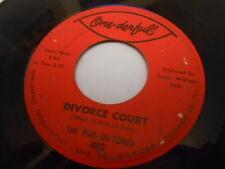 Los cinco du tonos, tribunal de divorcio B/W agitar una cola de plumas de 45