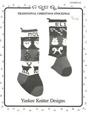 Traditional Christmas Stockings Knitting Instruction Patterns Yankee Knitter #24