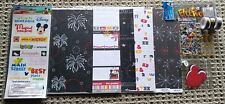 NEW~DISNEY Scrapbook Bundle~6 Papers-Stickers-Washi tape-Mickey ears-ribbon