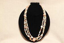Vintage 3 strand multi-color necklace