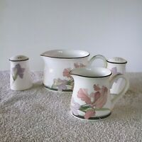 New Decade By Noritake Cafe Du Soir Creamers and Salt and Pepper Shaker Set