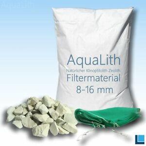 AquaLith Filtermaterial Zeolith 8-16 mm 25kg für Koiteiche inkl. 2x Filternetz