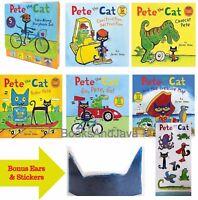 Pete the Cat Take-Along Storybook Box Set by James Dean+FREE Pete Ears & Sticker