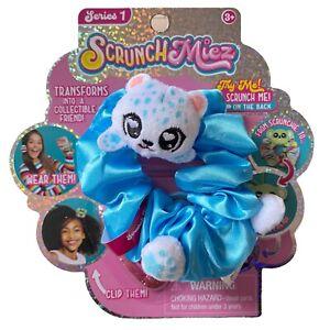 Scrunchmiez Series 1 Blair #11 Shiny Blue Hair Scrunchy Backpack Clip Bracelet