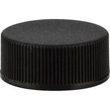 24 mm 24/410 Plastic Caps, Black Polypro Ribbed, PE F-217 Foam Lined: Lot 8 pcs