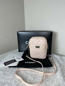 Authentic Chanel Pink Quilted Calfskin Leather Reissue 2.55 Camera Bag
