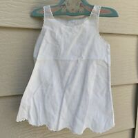 VTG Infant Hand Embroidered White Diaper Shirt Sleeveless Made In Philippines