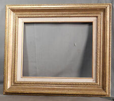 Vintage Picture Frame Carved Gilt Wood Spanish Baroque  11x14 Mexico Linen