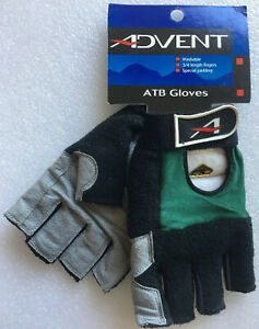 S NOS VINTAGE 1996 ADVENT MTB CROSS GRAVEL Green Cycling Glove VEGAN SUEDE PALM