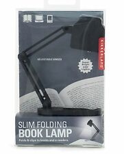 Kikkerland Slim Folding Book Lamp Clip On Books 3 Bright LED Lights Night Reader