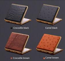 1pc Hold 20 PU Leather Camel Crocodile Men Thin Cigarette Case Portable Gift