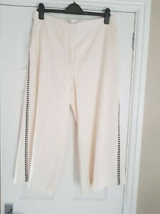 Jacques Vert Cream and Black Culottes Worn Once Size 16