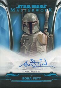 Star Wars Masterwork 2019, Mark Austin 'Boba Fett' Autograph Card A-MA #76/99