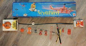 Vintage Mattel Vertibird & Airborne Rescue RC Helecopter w/box Works!
