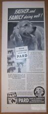 Pard Dog Food '40s PRINT AD Cocker Spaniel puppies vintage advertisement 1940