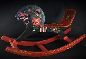 """Rare vintage cheval à bascule """"USSR""""  jouet ancien bel état pour l'âge"""