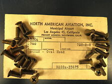 WW2 Original #832 Brass Aircraft Oval Head Screws AT-6 P-51 B-25 (24)