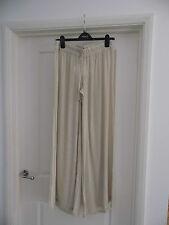 Stella Cruz Cream Beige wide Pallazo  Trousers size  small 10/12/14 tall