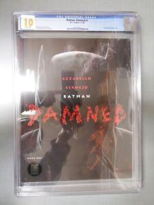 BATMAN: DAMNED #1 CGC GRADED 10 GEM MINT WHITE PAGES 2018 1st DC BLACK LABEL