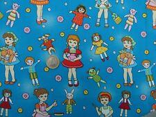 Tissu patchwork Naïf Enfants poupées Vintage acheté aux USA de Michael Miller