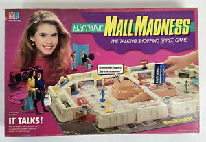 1989 Electronic Mall Madness Board Game Milton Bradley 100% Complete Works Talks