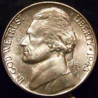 1943-P Jefferson Nickel Choice/Gem BU Uncirculated