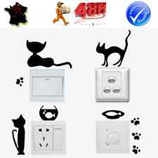 5 STICKERS AUTOCOLLANTS INTERRUPTEUR PRISE MURALE FRIGO CHATS JOUEURS DECORATION