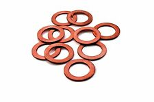 M12 12mm Solid Crush Copper Washer oil brake line hydraulic fitting seal 10 PC