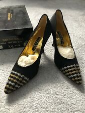 Gold and Black Bruno Magli Couture Kitten Heels Size 39 EUR