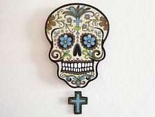 Big Beige Sugar Skull - Day of the Dead -Dia de Los Muertos - Calavera Pendulum
