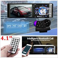 """4.1"""" Bluetooth Coche Radio Estéreo reproductor de unidad principal MP5/MP3/USB/AUX-IN/FM en el tablero"""