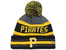 Pittsburgh Pirates New Era MLB Team Jake Graphite Custom Knit Pom Hat Cap Beanie