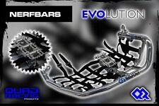 Nerfbars Evolution avec heelguards & repose-pieds en noir yamaha raptor 660 yfm