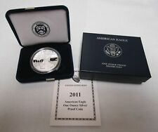 2011-W PROOF SILVER AMERICAN EAGLE COIN WITH BOX & COA