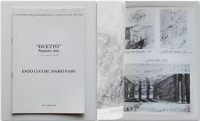 """""""DUETTO"""" Numero uno Enzo Cucchi Dario Passi A.A.M. Roma 1980 Moschini B. Oliva"""
