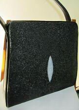 #GENUINE BLACK STINGRAY SHOULDER BAG purse tote handbag