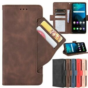 For TCL 10L / TCL 10 Pro Retro Card Slot Magnetic Flip Leather Wallet Case Cover