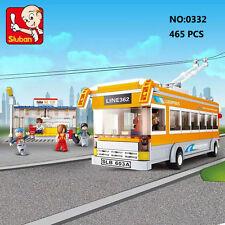Sluban B0332 City Trolley Bus Tram Car Figure Building Block Toy blocks toys