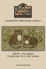 Two Meows PN170 Cat Punch Needle Teresa Kogut Pattern Punchneedle