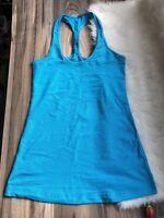 Lululemon Blue Tank Racerback Tonka Stripe Size 4 Polar Cream Cool Yoga Top