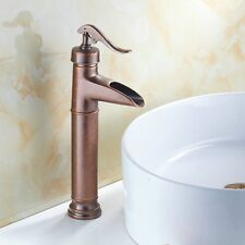 Rustic Vintage Bathroom Kitchen Faucet Antique Copper Finish Sink Faucet Taps