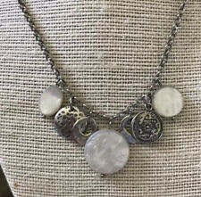 of Pearl Disc Charm Necklace Silpada N1830 Sterling Silver & Mother
